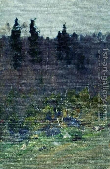 Early spring. The last snow. by Isaak Ilyich Levitan - Reproduction Oil Painting