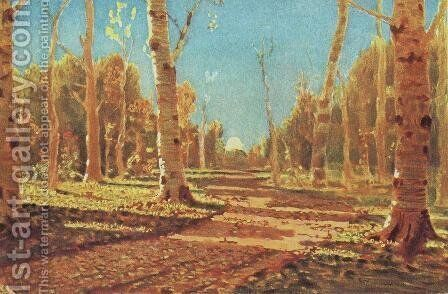 A Birch Grove 2 by Arkhip Ivanovich Kuindzhi - Reproduction Oil Painting