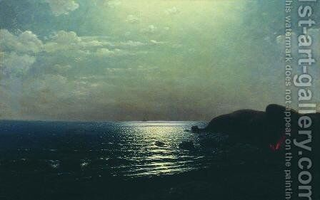 Fishing on the Black Sea by Arkhip Ivanovich Kuindzhi - Reproduction Oil Painting
