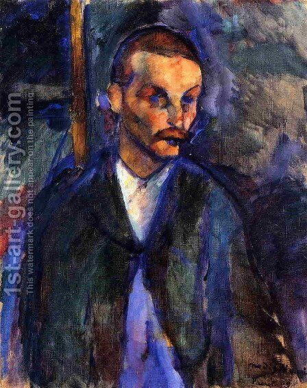 The peasant from Livorno by Amedeo Modigliani - Reproduction Oil Painting