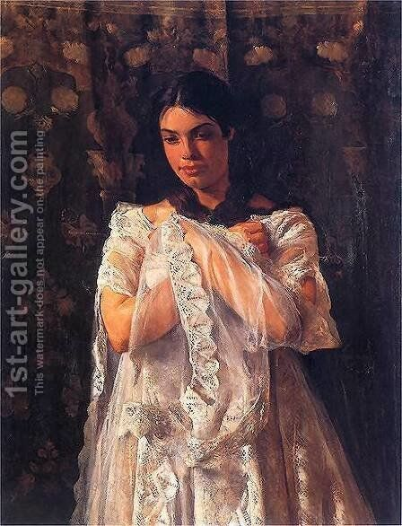 Portrait of Helena Marcell by Jacek Malczewski - Reproduction Oil Painting