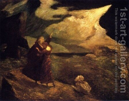 The Tempest by Albert Pinkham Ryder - Reproduction Oil Painting