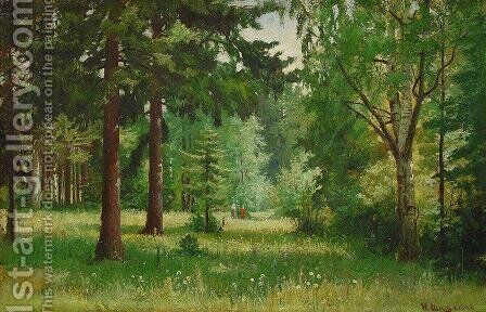 Children in the forest by Ivan Shishkin - Reproduction Oil Painting