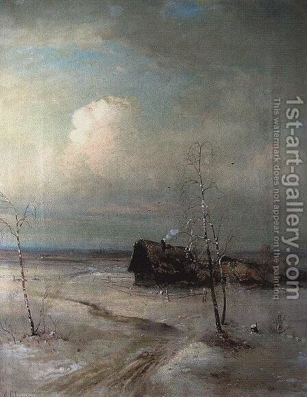 Early Spring 4 by Alexei Kondratyevich Savrasov - Reproduction Oil Painting