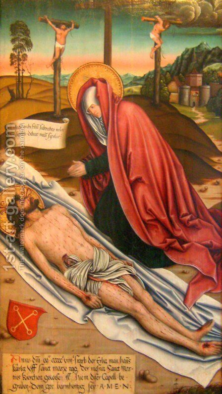 Lamentation of Christ by Bernhard Strigel - Reproduction Oil Painting
