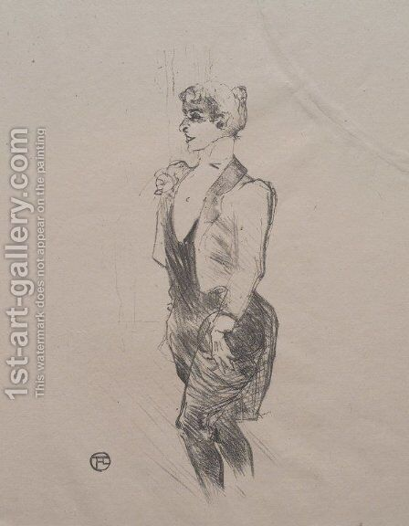 Mary Hamilton by Toulouse-Lautrec - Reproduction Oil Painting