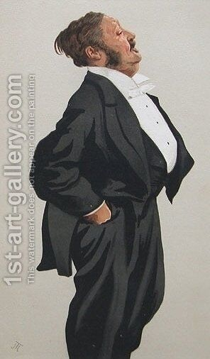 Caricature of Mr Lionel Lawson by James Jacques Joseph Tissot - Reproduction Oil Painting