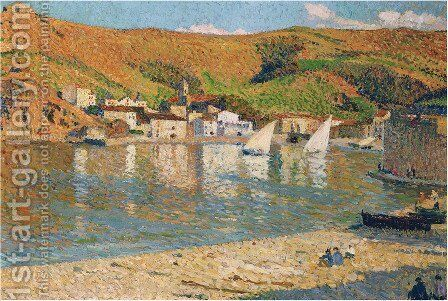 Port Collioure by Henri Martin - Reproduction Oil Painting