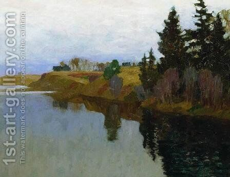 A lake by Isaak Ilyich Levitan - Reproduction Oil Painting