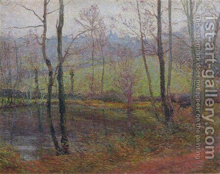 Wooded Landscape by Gustave Loiseau - Reproduction Oil Painting