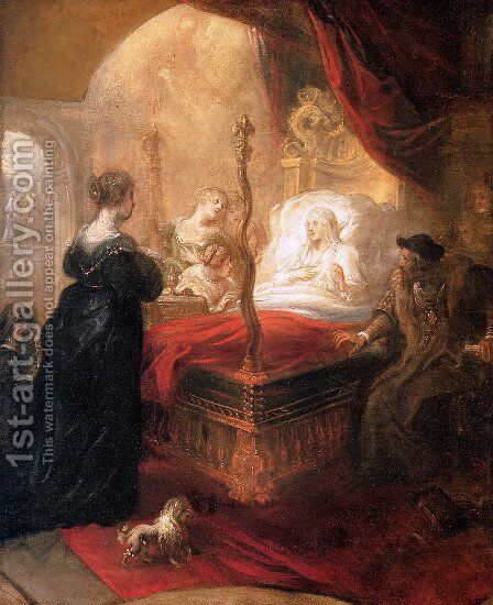 Holy Franciscus Announces Birth of Son by Theodor Van Thulden - Reproduction Oil Painting