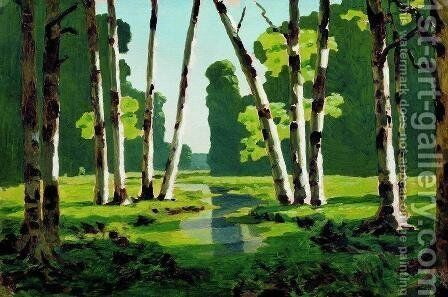 A Birch Grove 3 by Arkhip Ivanovich Kuindzhi - Reproduction Oil Painting