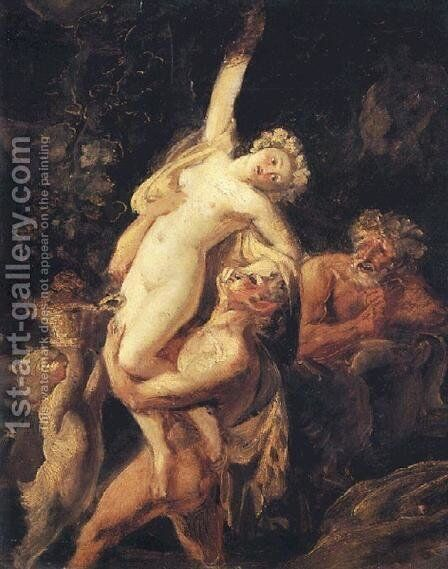 Satyr and Bacchante (Bacchanalia) by Karl Briullov - Reproduction Oil Painting