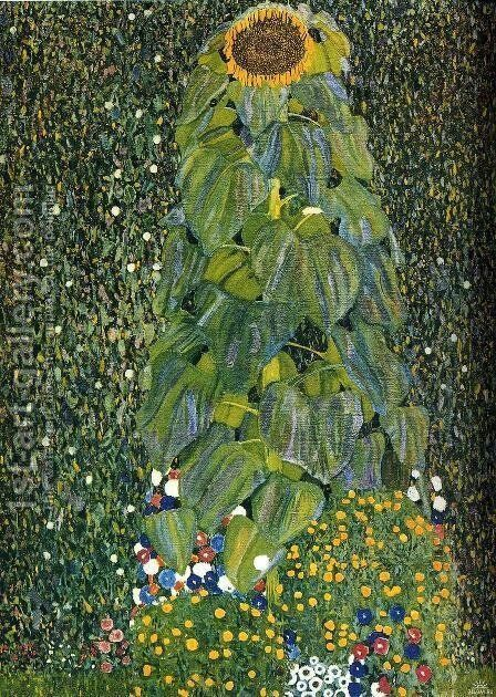 The Sunflower by Gustav Klimt - Reproduction Oil Painting