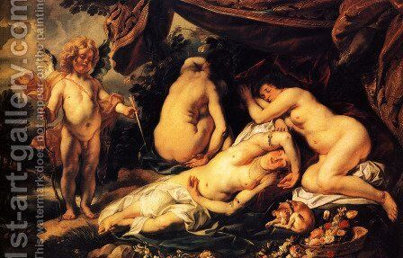 Love of Cupid and Psyche 2 by Jacob Jordaens - Reproduction Oil Painting
