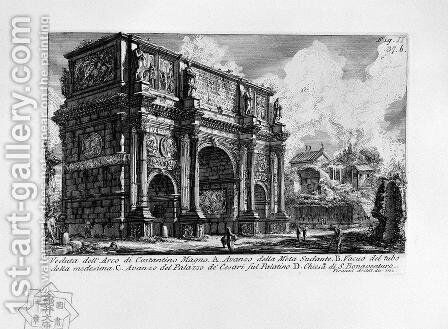 The Roman antiquities, t. 1, Plate XXXVI by Giovanni Battista Piranesi - Reproduction Oil Painting