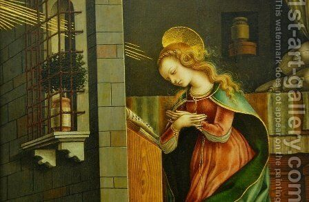 Annunciation by Carlo Crivelli - Reproduction Oil Painting