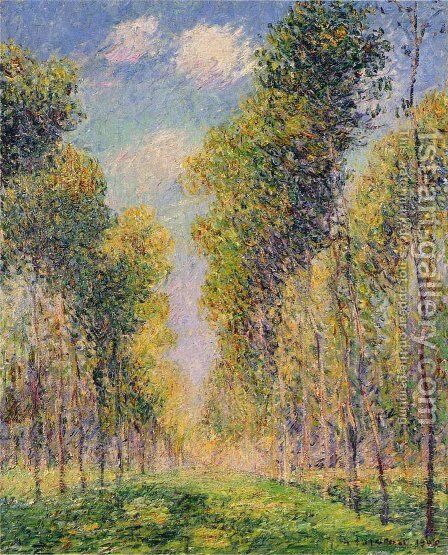 Alley of Poplars by Gustave Loiseau - Reproduction Oil Painting