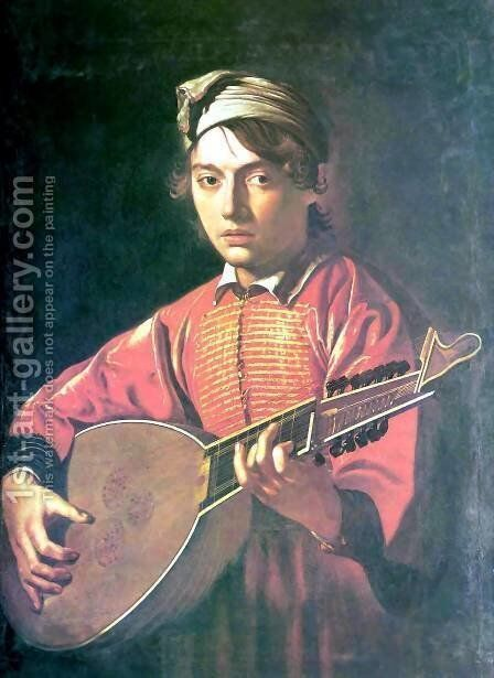 The lute player 3 by Caravaggio - Reproduction Oil Painting