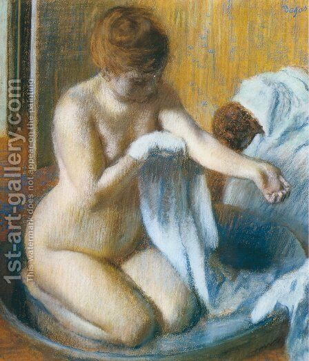 After the Bath 4 by Edgar Degas - Reproduction Oil Painting
