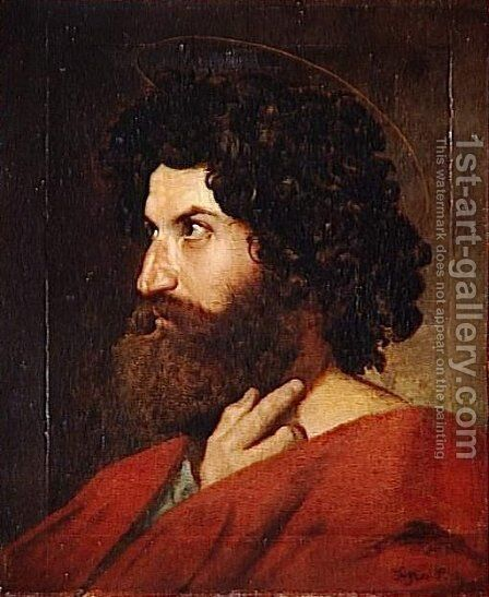 Head of St. Matthew by Jean Auguste Dominique Ingres - Reproduction Oil Painting