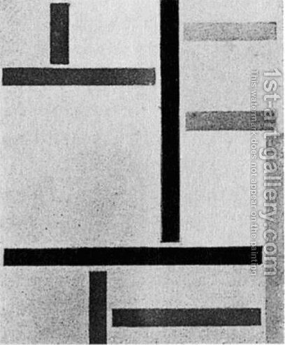 Composition XXV by Theo van Doesburg - Reproduction Oil Painting