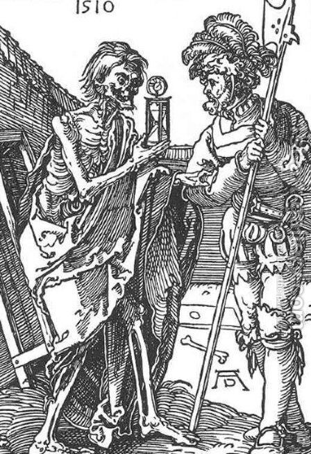 Death and the Landsknecht by Albrecht Durer - Reproduction Oil Painting