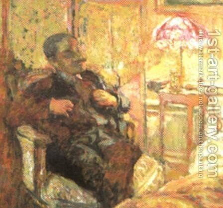 Romain Coolus (writer in La Revuew Blanche) by Edouard  (Jean-Edouard) Vuillard - Reproduction Oil Painting