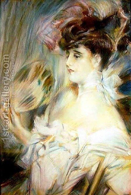 Madame Marie-Louise Herouet by Giovanni Boldini - Reproduction Oil Painting