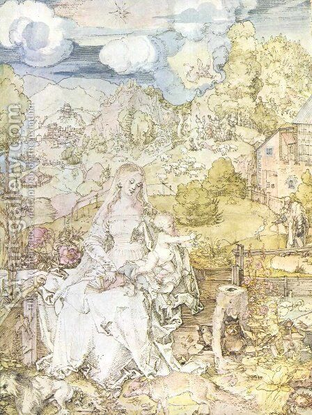 Madonna with the many animals by Albrecht Durer - Reproduction Oil Painting