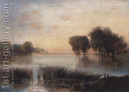 Landscape with a River by Alexei Kondratyevich Savrasov - Reproduction Oil Painting