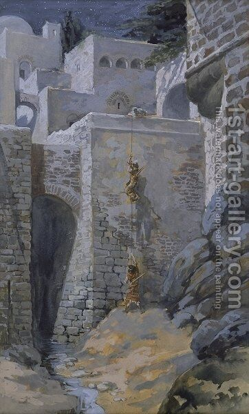 The Flight of the Spies by James Jacques Joseph Tissot - Reproduction Oil Painting