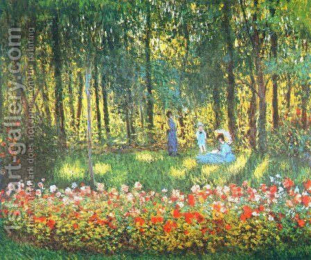 The Artist's Family in the Garden by Claude Oscar Monet - Reproduction Oil Painting