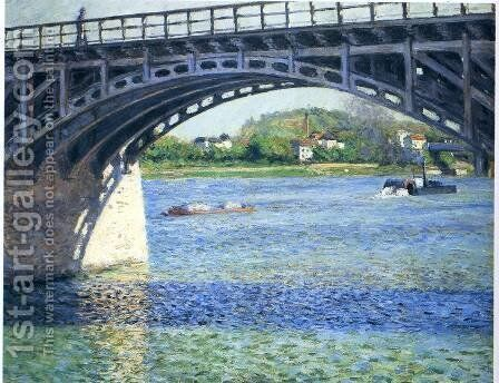 Pont d'Argenteuil by Gustave Caillebotte - Reproduction Oil Painting