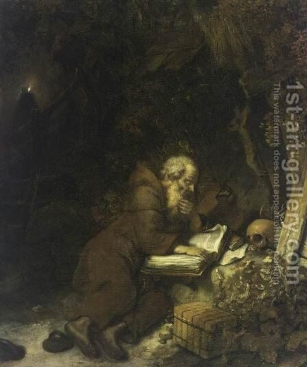St Francis of Assisi 1655 by Gerbrand Van Den Eeckhout - Reproduction Oil Painting