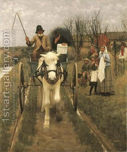 Leaving Home by Henry Herbert La Thangue - Reproduction Oil Painting