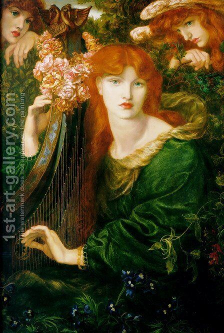 The Garland by Dante Gabriel Rossetti - Reproduction Oil Painting