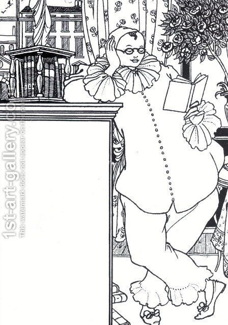 Pierrot 3 by Aubrey Vincent Beardsley - Reproduction Oil Painting