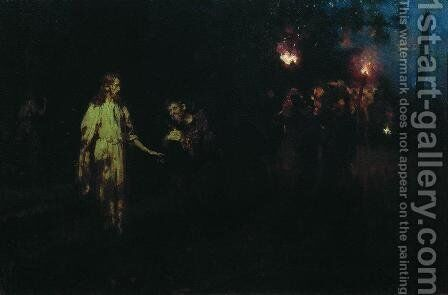 Jesus Christ in the Garden of Gethsemane by Ilya Efimovich Efimovich Repin - Reproduction Oil Painting