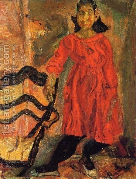 Girl in Red by Chaim Soutine - Reproduction Oil Painting
