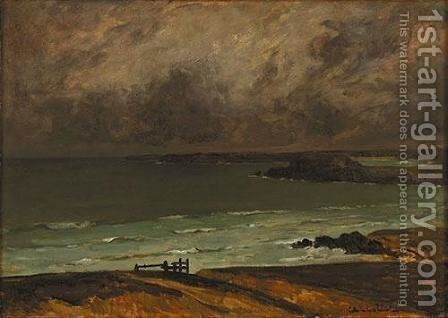 Marine Breton by Charles Cottet - Reproduction Oil Painting