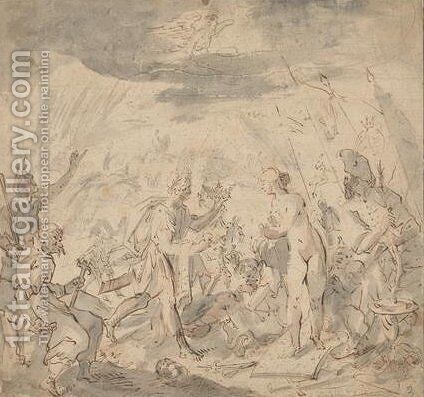 Allegorie on the battle of elimbr by Hans Von Aachen - Reproduction Oil Painting