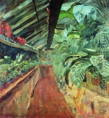 Conservatory by Isaak Ilyich Levitan - Reproduction Oil Painting