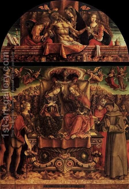 Coronation of the Virgin by Carlo Crivelli - Reproduction Oil Painting