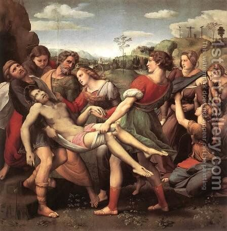 The Deposition 2 by Raphael - Reproduction Oil Painting