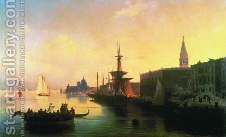 Venice 3 by Ivan Konstantinovich Aivazovsky - Reproduction Oil Painting