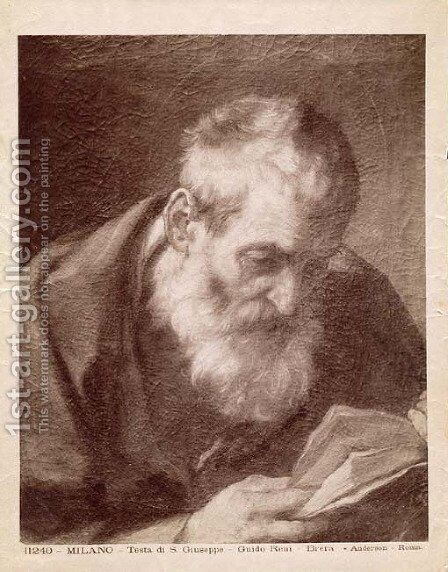 Head of Saint Joseph by Guido Reni - Reproduction Oil Painting