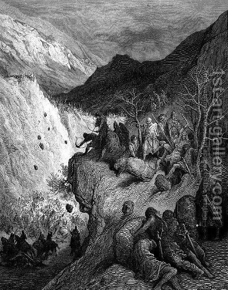 Surprised by the Turks by Gustave Dore - Reproduction Oil Painting