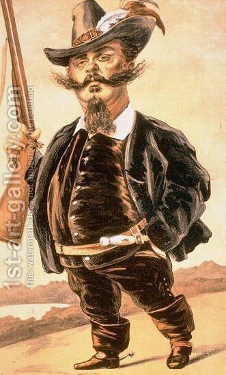 Caricature of Victor Emmanuel II of Italy by James Jacques Joseph Tissot - Reproduction Oil Painting