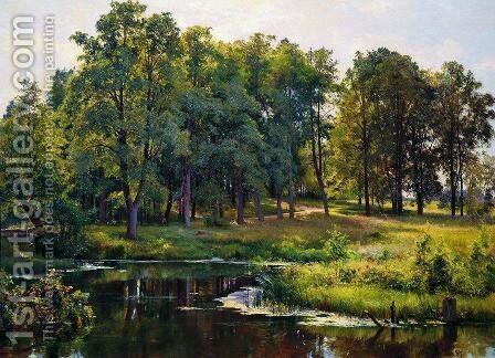 In the park 2 by Ivan Shishkin - Reproduction Oil Painting